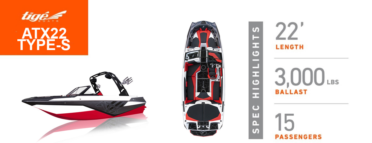 Tige Boat ATX 22 TYPE S Profile and top view
